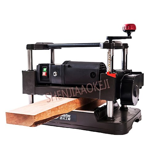 12 INCH Fine Flat Knife Planer Automatic Industrial Woodworking Automatic Feeding 220V DesktopWoodworking Planer Machine 1PC