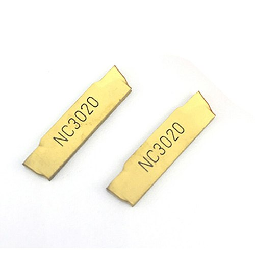 20PCS MGMN200 G NC3020 grooving carbide inserts MGMN 200 lathe cutter turning tool Parting and grooving tool Parting off