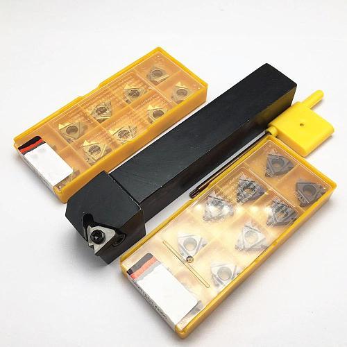 Lathe Tool Holder SER1212H11 SER1616H11 SER2020K16 SER2525M16 SER2525M22 + 10PCS Carbide Thread Insert MMT11ER 16ER 22ER AG60