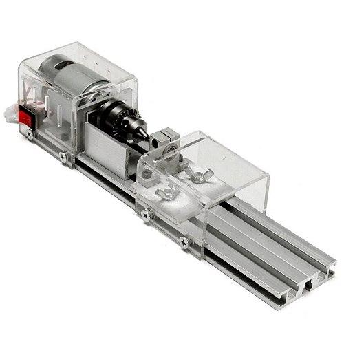 New LB-01 Mini Lathe Beads Machine Wood Working DIY Lathe Polishing Drill Rotary Tool  Power Supply DC 24V with Accessory Set