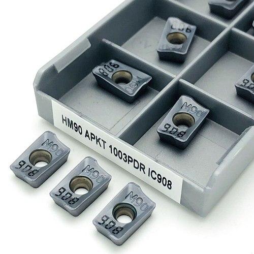 HM90 APKT1003 PDR IC908 Internal Metal Turning Tool CNC Lathe Tool End Milling Tool Cutting Turning Tool APKT1003 Cutting Insert