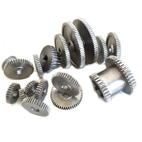 17Pcs/Set Mini Lathe Gears , Metal Cutting Machine Gears , Lathe Gears