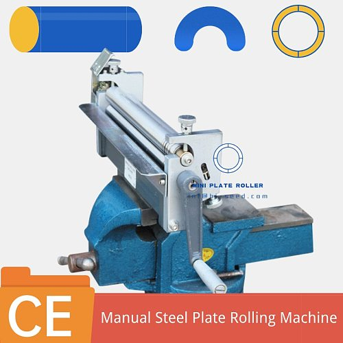 3 Rollers hand manual Sheet Metal Rolling Machine