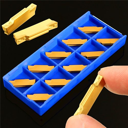 10pcs MGMN300-M Carbide Inserts 3mm Width for MGEHR/MGIVR Grooving Cut Off Tool Turning Tool lathe cutter CNC Parting