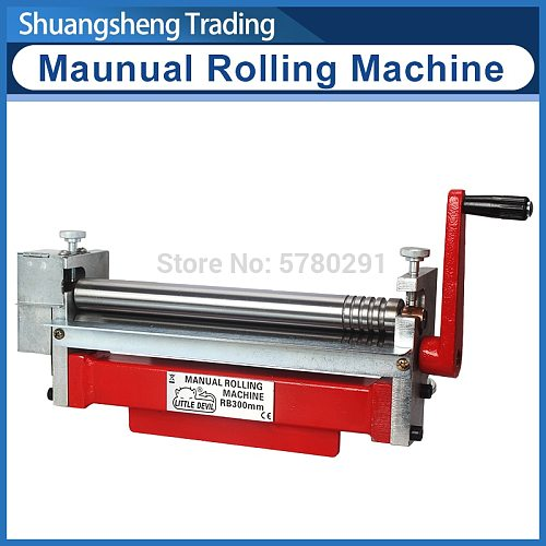 Manual Bending Machine Steel Plate Rolling Machine Round Tube Roller Making Tool Angle Bender Arc Shape Bending S/N:20051