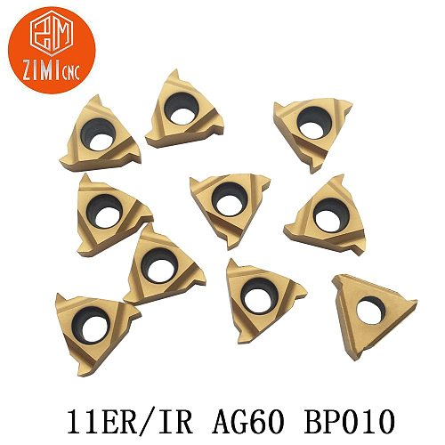 10 pieces 11ER A60 BP010 insert carbide insert for thread turning tool boring bar blade limited