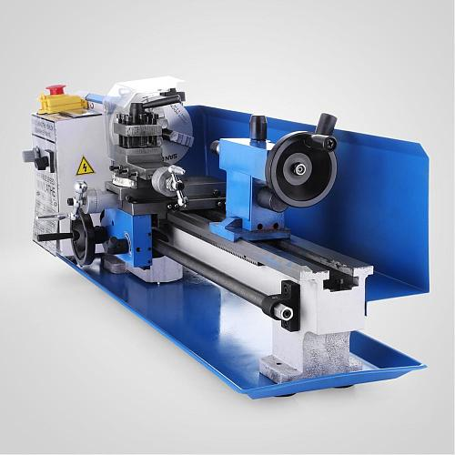 550W Mini Metal Lathe 7x14 inch for Metal Bench Top Lathe Precision Parallel Lathe Variable Speed Digital Drilling Digital