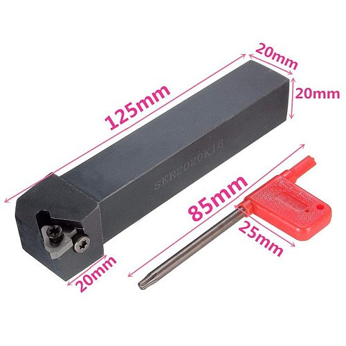 SER2020K16 CNC Lathe Turning Tool Holder Boring Bar with 10Pcs 16ER AG60 Blade Insert Machine Accessories Turning Tool Set