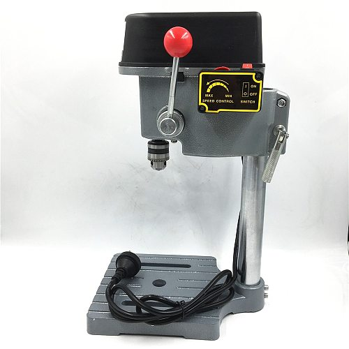 340W Mini PCB Drill Press 220V Stand Table Bench 16000rpm High Speed 22mm Stroke Clamping 0.6-6.5mm Wood PVC DIY Home Tools