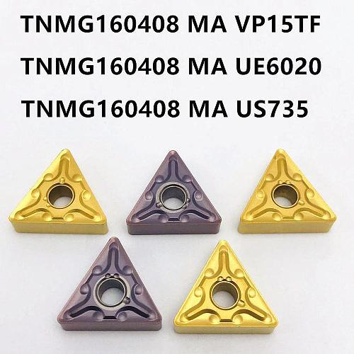 Lathe tool TNMG160408 MA VP15TF UE6020 US735 high quality metal turning carbide insert CNC machine tool milling cutter TNMG