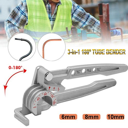 Three-in-one 180 Degree 6mm / 8mm / 10mm Pipe Tube Bender / Copper Tube / Air Conditioning Tube Manual Elbow Tool