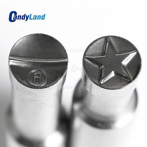 CandyLand StarR/Skull/Shoes/snow/Blank Tablet Die 3D Pill Press Mold Candy Punching Die Custom Logo Calcium Tablet Punch Die