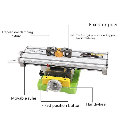 6300 Mini Precision Milling Machine Worktable Multifunction Drill Vise Fixture Working Table Bench Drill Cross Table Support