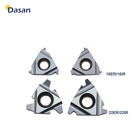 10PCS 22ER TR 22IR  4.0TR 5.0TR 6.0TR Tugsten Carbide Inserts Threading Blade CNC Thread Plate Lathe Turning Tool