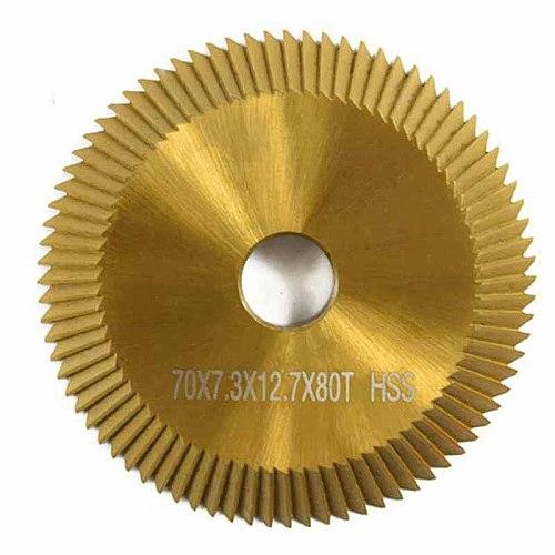 1Pc Titanium Coated Key Machine Cutter 70X7.3X12.7Mm 80T Hss Key Duplicate Machine Saw Blade for Cutting Keys Locksmith Tools