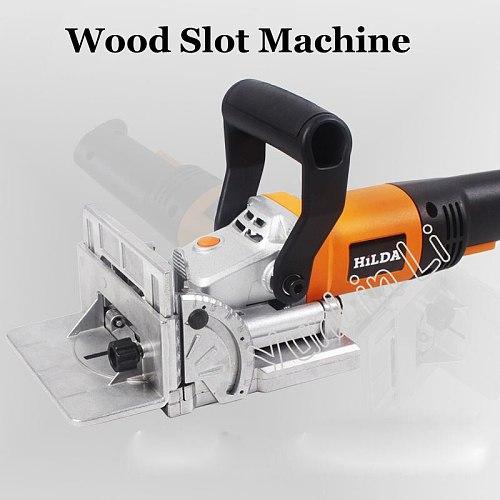 Woodworking Slotting Machine 760W Multifunctional Tenoning Machine Electric Tool Woodworking Tenoning Machine