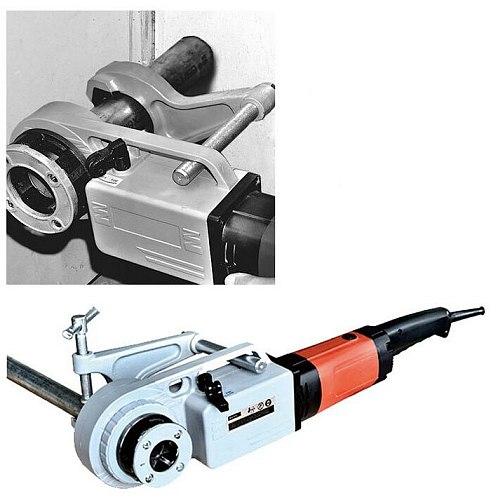 SQ30-2B 2 Inch Handheld Electric Pipe Cutting Machine 220V Handheld Die Head Threading Machine Pipe Threader Cutter Machine 1PC