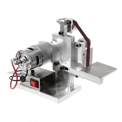 220-240V Multifunctional Mini Electric Belt Sander Electric Grinder DIY Polishing Grinding Machine Cutter Edges Sharpener