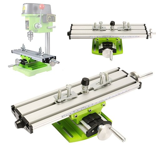Multifunction 2 Axis Milling Compound Working Table Cross Sliding Bench Drill Vise Fixture Adjustment Worktable High Precision