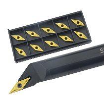 1pc S16Q-SVXBR11  S20R-SVXBR16 Internal Turning Tool Holder VBGT/VBMT Carbide Inserts Lathe Bar CNC Cutting Tools Set