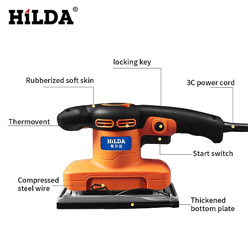 320W Mini Electric Sander Woodworking For Polishing Metal rust Wall renovation Used for plate grinding/Brick Cleaning