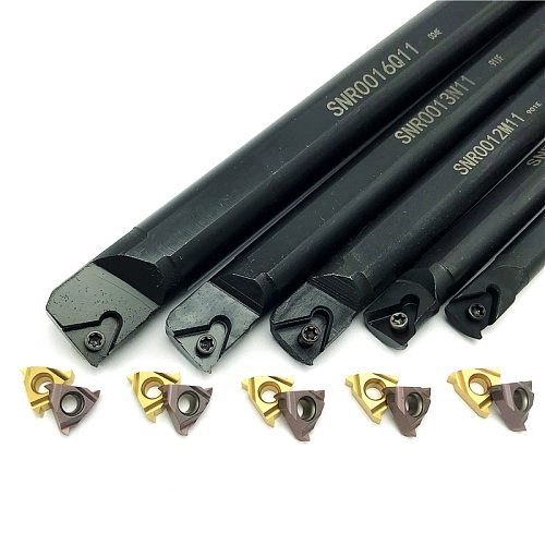 SNR0008K11 SNR0010K11 SNR0012M11 SNR0013N11 SNR0016Q11 Thread Turning Tool Holder +11IR AG60 Carbide Inserts lathe Cutting tool