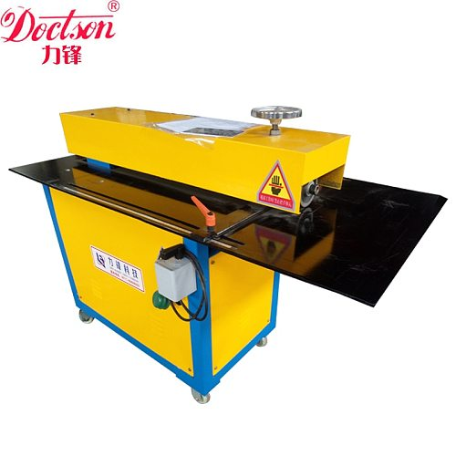 Lifeng LQ-12 electric sheet metal slitting machine , rotary sheet cutter with quick adjusting back gauge and scale