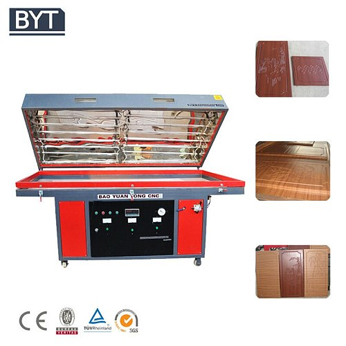wood veneer 3d foil vacuum press machine for wood door cabinet