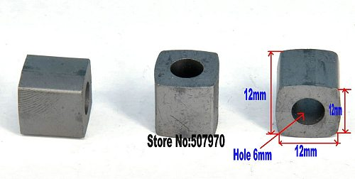 EDM YG8 Tungsten Conductive Carbide Block L12*W12*H12*Inner Hole6mm for CNC Wire Cut Machine