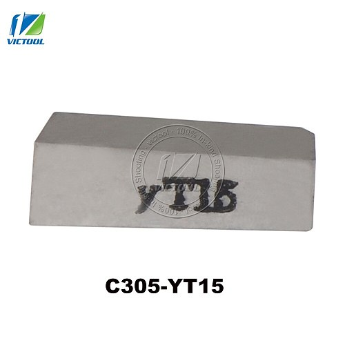 10pcs/lot C305 YT15 tungsten brazed tips High quality Carbide inserts For making parting tools and grooving tools