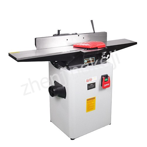 Multifunctional Small Planer High Speed Desktop High Power Plane Planer Woodworking 6 Inches Adjustable Automatic Chip Removal