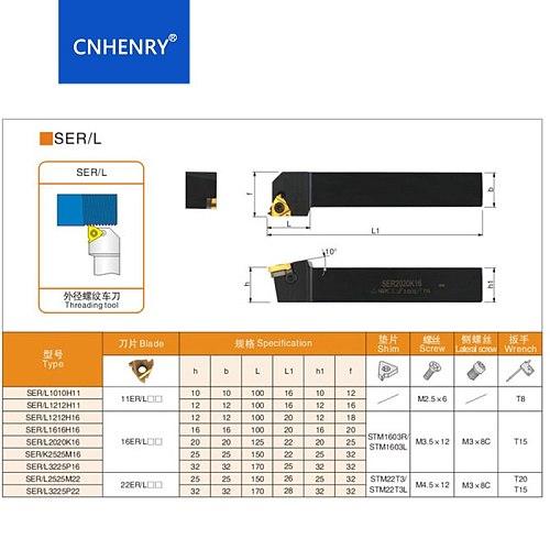 SER1616H16 SER2020K16 SER2525M16 Lathe Cutter External Thread Turning tool Holder For 16ER AG60 Carbide Insert