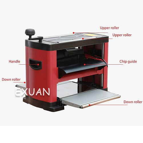 13 inch electric planer woodworking multi-function desktop electric planer precision planer high speed press planer 1500w