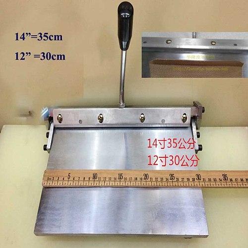 1 pc 12  300MM Leather sewing tool  Manual edge Folding Machine Leather bag Linear edge folder tool