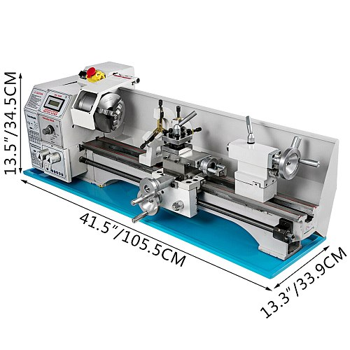 Metal Lathe Mini Lathe 1100W Free Shipping Spindle 38mm For Counter Face Turning Driling EU/Russia No Customs Fees