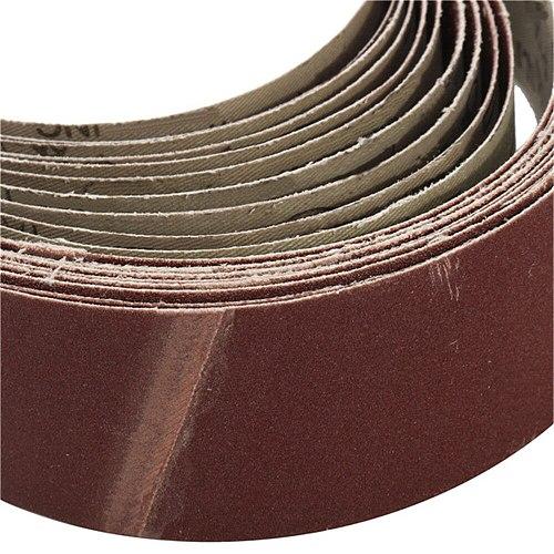 10Pcs  Abrasive Sanding Belt 50x686mm Sanding Paper for Belt Sanders Bench Grinder Grinding Polishing Tool 60-150 Grit New