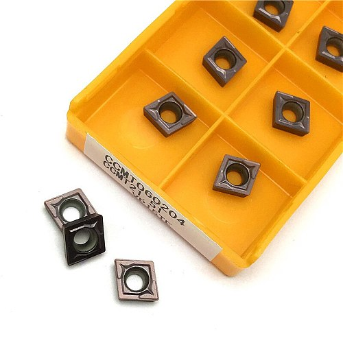 carbide inserts CCMT060204 VP15TF lathe tool Internal turning tool  CNC tool CCMT 060204 turning insert Cutting tool