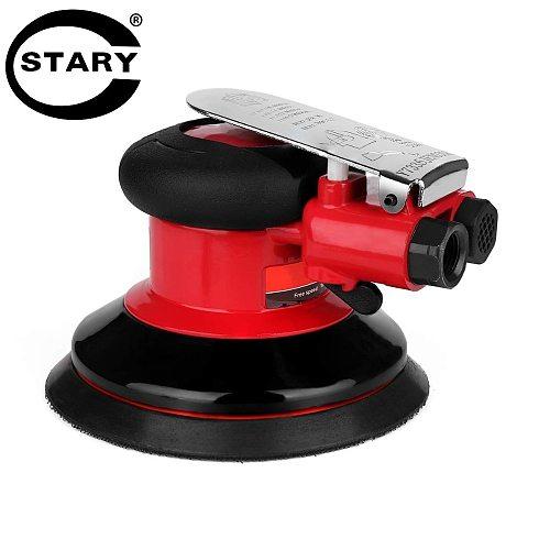STARY 5 Inch Air Random Orbital Palm Sander Dual Action Pneumatic Sander with Speed Regulation Pneumatic Tool