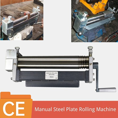 Small Size Mini Aluminum Steel Plate Hand 3 Roller Bending Rolling Machine Manual