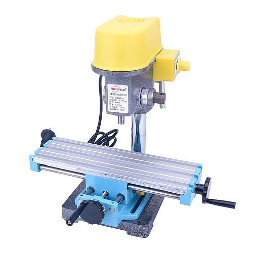 Mini Micro Bench Drill Table Bench Fixture Drilling Slide Table Worktable Cross Slide Table Drill Vise for Bench Drill Stand