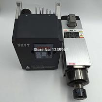 High Quality 3.5KW ER25 CNC Spindle Motor Kit Air-cooled 18000rpm + 5.5KW 220V VFD Inverter CNC Router Spindle Kit