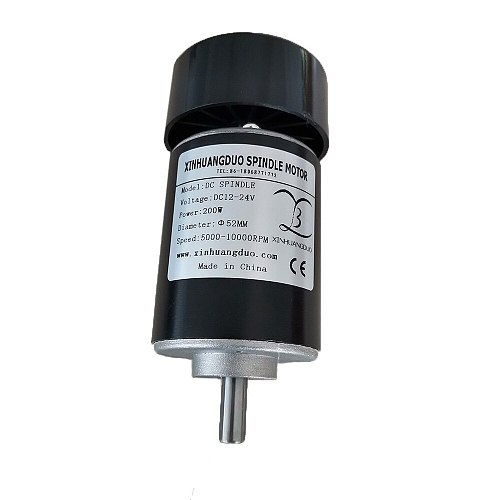 200W Air cooled spindle motor 0.2KW dc motor CNC engraving machine DC12V-24V