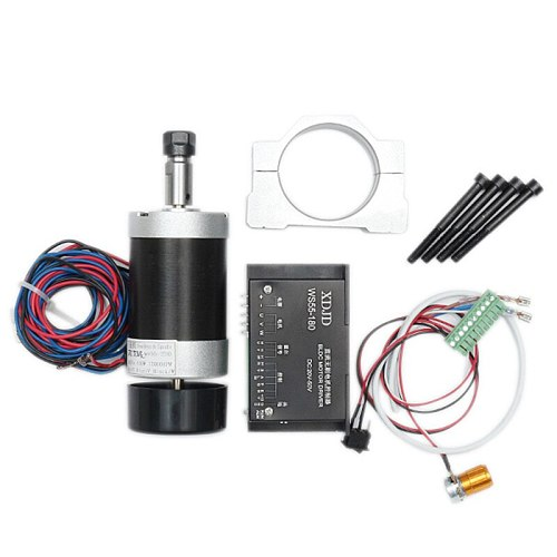 DANIU 400W 12000r/min ER11 Chuck CNC Brushless Spindle Motor DC Machine Tool with Driver Speed Controller and Clamp