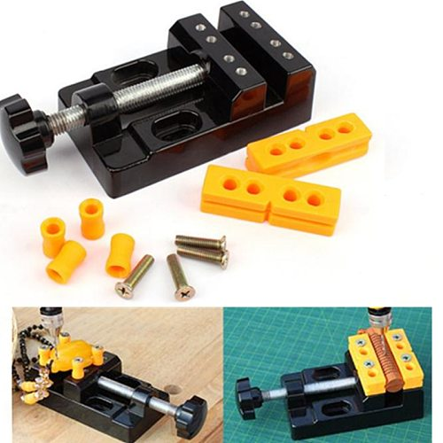 57mm Adjustable Aluminum Alloy Drill Press Vice Carving Tools Machine Woodworking Tools Clamp Drill Press Vice Table Vise DIY