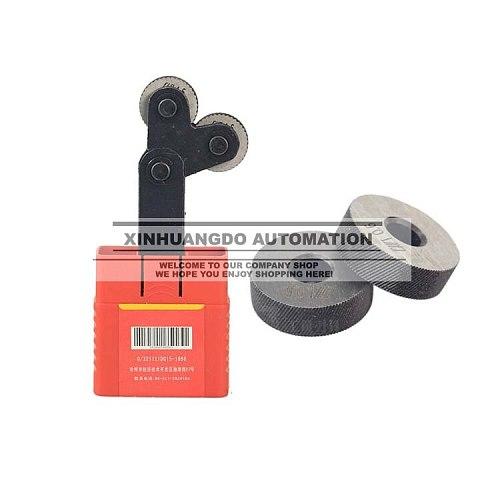 Diagonal 0.4mm Pitch 8mm(ID)*26mm(OD)*8mm(H) Knurling Wheel Knurling Linear Knurl Tool