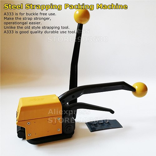 Portable Manual combination sealless steel strapping machine buckle free metal strapping tool packing wrapping machine