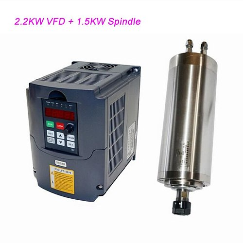 800W 0.8KW 1.5KW 2.2KW 3.0KW CNC Spindle Motor VFD Inverter 4.0KW Variable Frequency Drive DIY CNC Engraving Machine Shaft