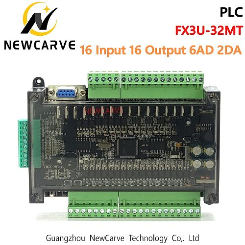 PLC Industrial Control Board FX3U-32MT Compatible With FX1N FX2N NEWCARVE