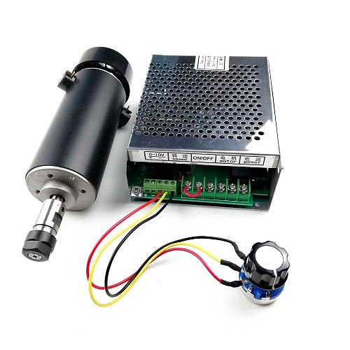 500W Spindle Motor CNC Air Cooled Spindle ER11 12000RPM Power Supply Mach3 110/220V For Milling Lathe Engraving Machine