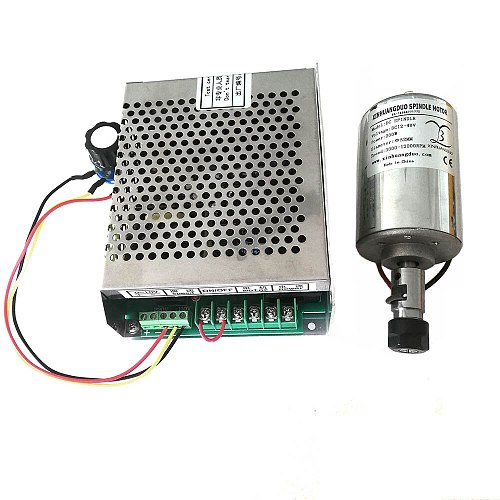 Air cooled 0.2kw Air cooled spindle ER11 chuck CNC 200W Spindle Motor + Power Supply speed governor For DIY CNC